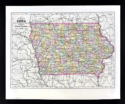 1924 RADIO STATION MAP IA IOWA JEFFERSON JOHNSON JONES KEOKUK KOSSUTH LEE LINN