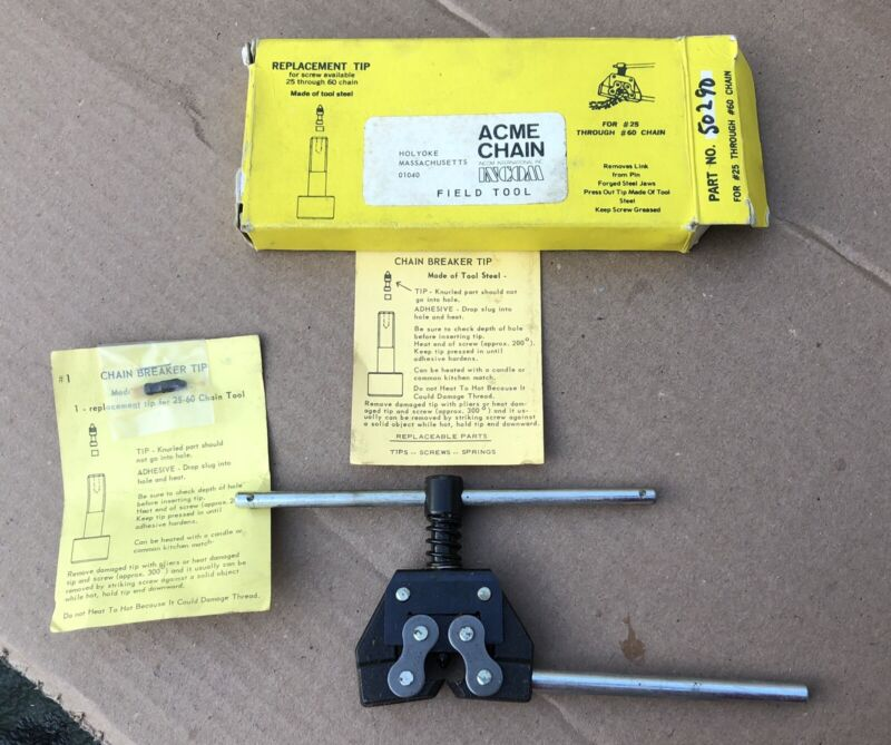 ACME #50290 Chain Break Hand Tool Removes Link From Chain for #25-#60 Chain NEW