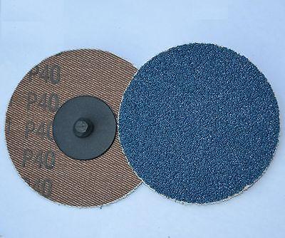 25 3 Abrasive Sandpaper Sanding Disc Type R Roloc Zirc 120 Grit