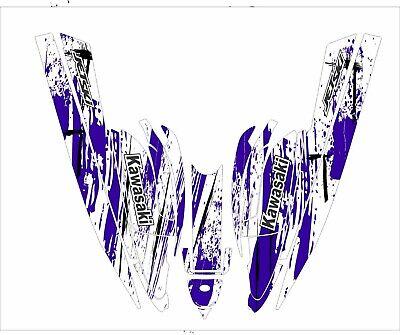 kawasaki 750 sxr sxi sx jet ski wrap graphic pwc stand jetski decal dark purple for sale  Shipping to South Africa