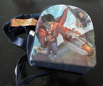 Vtg NWT 2001 Harry Potter Quidditch Small Navy Blue Backpack and/or Lunch Box