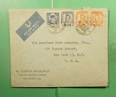 DR WHO 1950 IRAQ OVPT BAGHDAD AIRMAIL TO USA  g18625