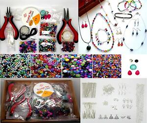 Jewellery Making Kit For Beginners Instructions Included Findings + Beads K0007L