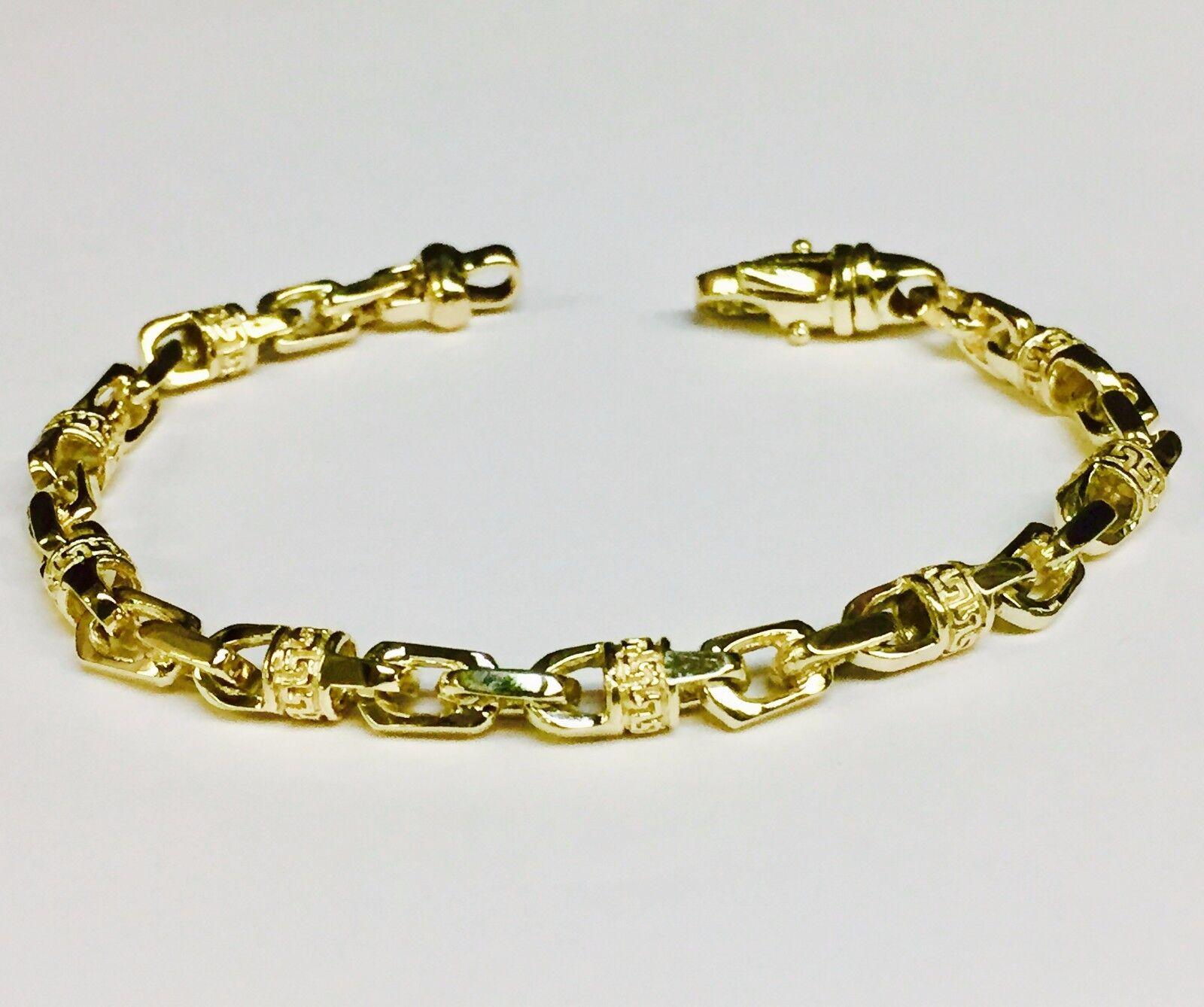 10k solid yellow gold handmade link men 39 s chain necklace. Black Bedroom Furniture Sets. Home Design Ideas