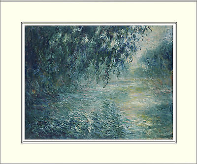 Monet Morning on the Seine (1898) 10 x 8 Inch Mounted Art Print