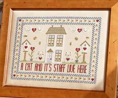 Cross Staffs (HS Counted Cross Stitch Sampler Kit – A Cat and its Staff Live)