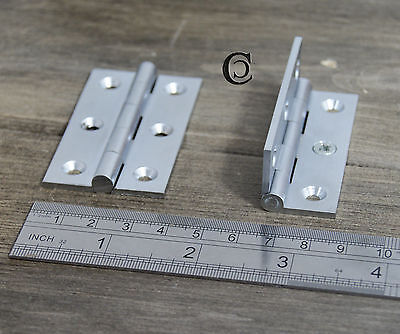 10 x Strong Furniture Butt Hinge Brushed Nickel 2.5