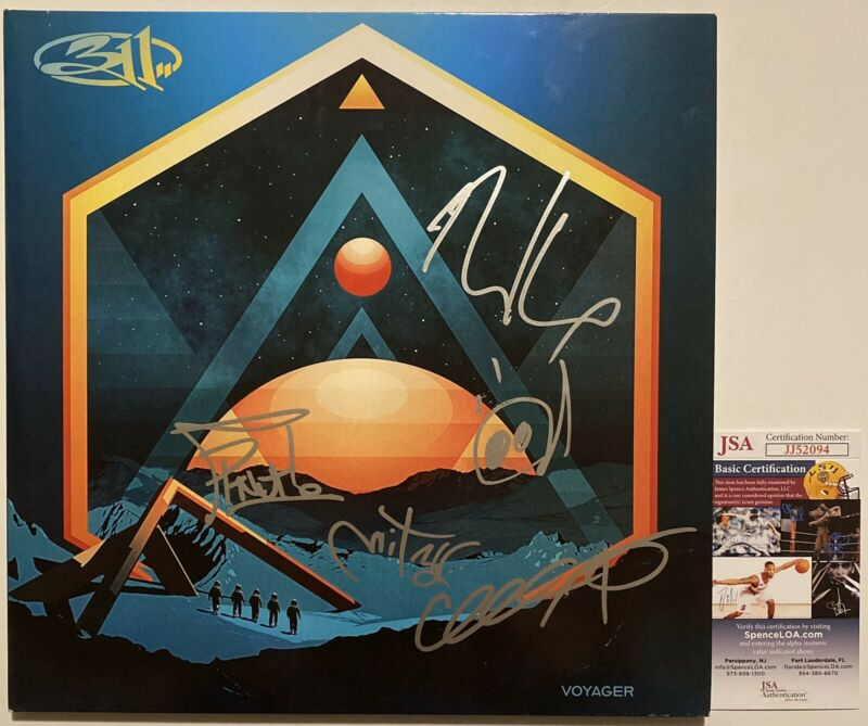 311 Band Signed Autographed Voyager Vinyl Record (All 5 Members) JSA COA