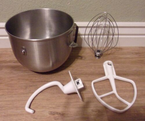 KitchenAid Lift Stand Mixer BOWL w/ ATTACHMENTS Stainless Steel