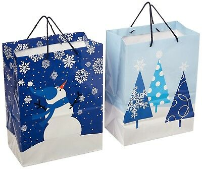 Small Holiday Gift Bags, Winter by Hallmark - Pack of 4