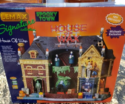 Lemax Spooky Town - HOUSE OF WAX  #95827 -RARE &  RETIRED - As is