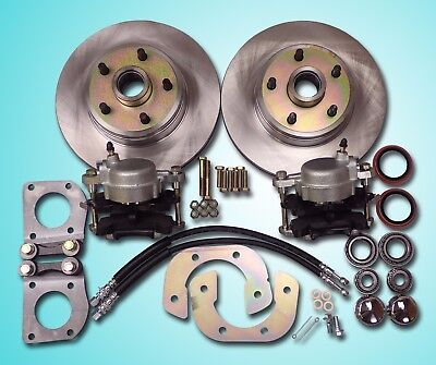 1967- 1970 Mustang front disc brake conversion fits v-8 drum brake spindle 5 lug
