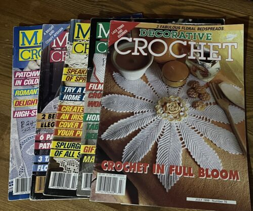 Lot 5 Vintage Magic Crochet Magazines 1980 s - $25.00