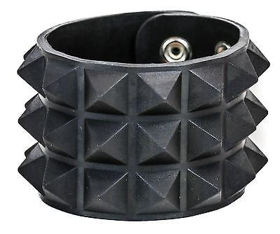 - Studded Rubber Silicone Pyramid Gothic Bracelet Punk Goth Thrash Rockabilly