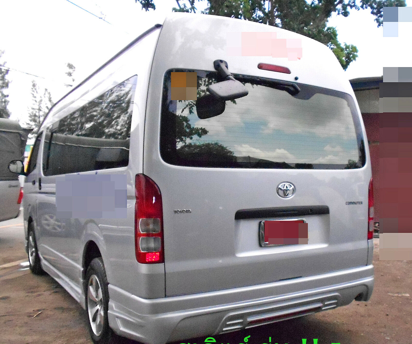 Set Rear Back Black Mirror View Side For Toyota Hiace