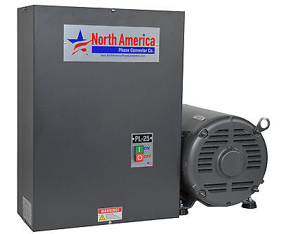 Rotary Phase Converter PL-25 Pro-Line 25HP  - Built-In Starter, Made In USA