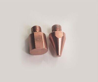 2 Pair Spot Welder Flat Tips Tnt040212 For Miller Tt-6 Tt-9 G7 Welding Tong