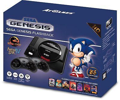 Sega Genesis Flashback Game Console Mini HD 720p HDMI 85 Built-in Games 2017