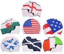 CHEX 100/% Silicone Swimming Swim Cap USA England Ireland Wales Scotland Splash