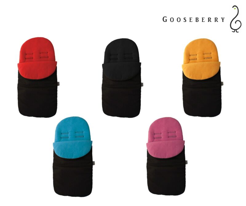 GOOSEBERRY FOOTMUFF PRAM STROLLER SEAT LINER SLEEPING BAG COSY TOES Universal