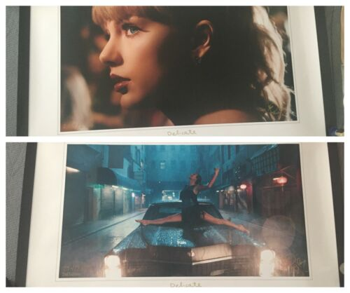 Taylor Swift Delicate Lithographs (Both) - Car and Close-Up