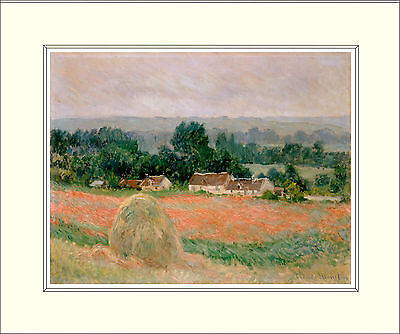 Monet Haystack at Giverny 10 x 8 Inch Mounted Art Print