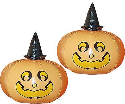 2 x Kürbis mit Hut zum Aufblasen 0,50 m Deko Halloween Requisite aufblasbar