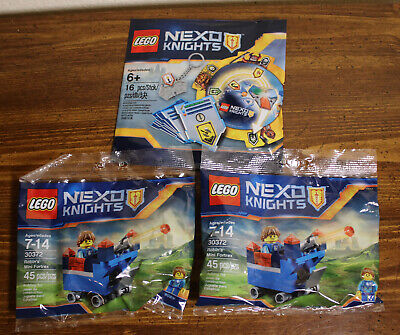 LEGO Lot of 3 Nexo Knights Polybags - Robin's Mini Fortrex (2), Crafting Kit-New