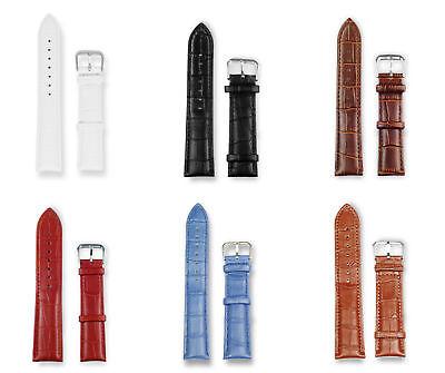 Uhrenarmband Leder 16/18/20/22mm Krokodilprägung Edelstahl Schließe Uhrenband ()