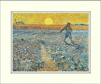 Van Gogh The Sower 10 x 8 Inch Mounted Art Print