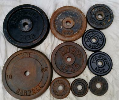 Assorted Standard Weight Weight Plates:36.75kg