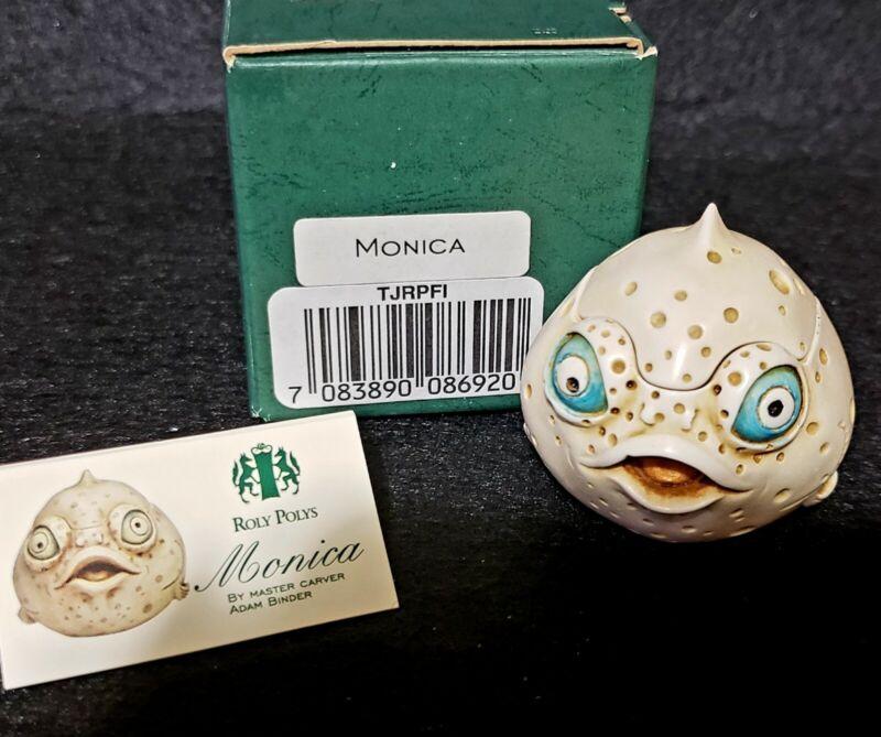 Harmony Kingdom Monica Roly Polys Puffer Fish Box Figurine Retired TJRPFI UK NIB