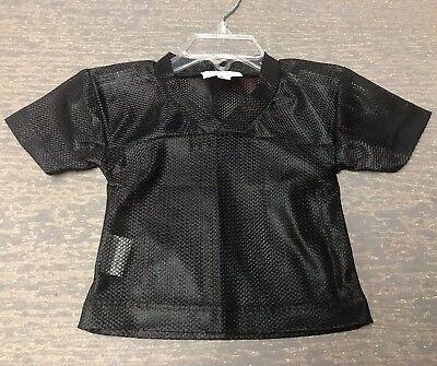 Blank Spirit Jersey (12 Months Unisex Blank Black Halloween Costume Football Spirit Jersey)