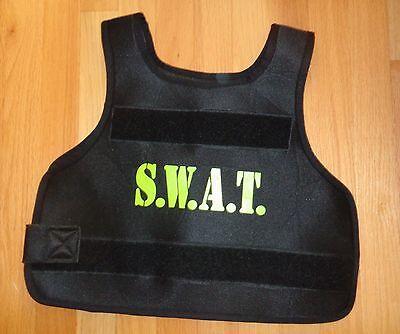 Swat Vest For Halloween (Boy Girl SWAT Police Vest for Halloween Costume Size 6 8 10 Police Dress)
