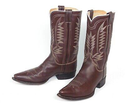 Leddy Classic Brown Cowboy Boots  - Size 10.5E - Excellent Condition Light Wear