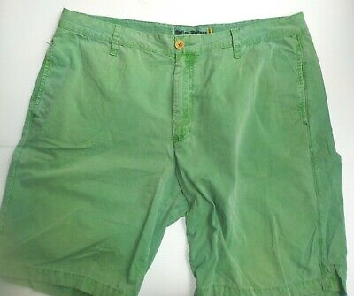Tailor Vintage  Green Flat Front Chino Shorts SZ 3