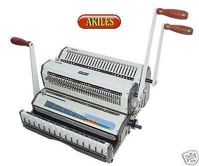 Akiles Wiremac Duo Wire Binding Machine Punch For 21 31 Spines 14 New