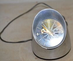 Jefferson 500 bullet space age desk table clock collectible mid century modern