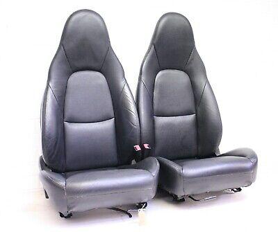 Mazda MX5 (89-05) BLACK HEATED LEATHER SEATS - PAIR - Sport - #SH3