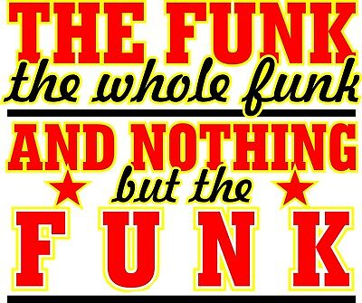Funk Vinyl Sticker 15x12cm parliament funkadelic clinton tower of power laptop