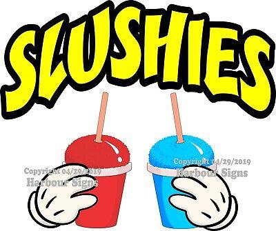 Slushies Decal Choose Your Size Color M Concession Food Truck Vinyl Sticker