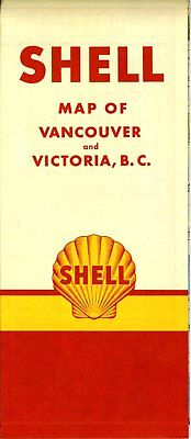 1951 Shell Road Map: Vancouver Victoria No Header Variant NOS