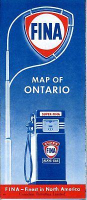 1958 FINA Road Map: Ontario NOS