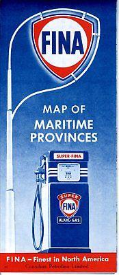 1958 FINA Road Map: Maritime Provinces NOS