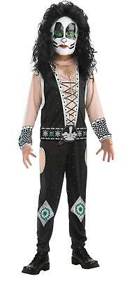 KISS Band - Catman Child Costume Size 12-14 Large  - Kiss Kids Costume