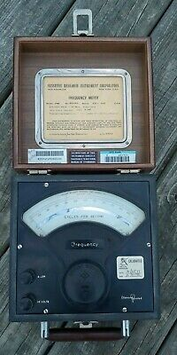 Vintage Sensitive Research Instrument Corp Model Fre Frequency Meter