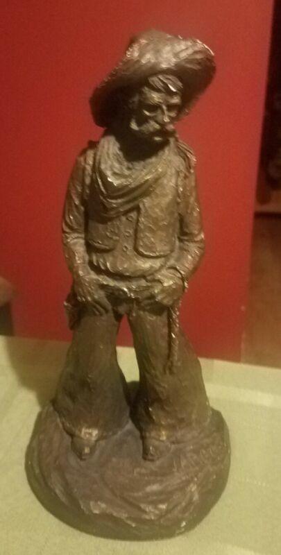 "RARE VTG 1974 Signed/Dated BRONZE J. LARGO  Western Cowboy Sculpture 10"" ""QUIRT"""