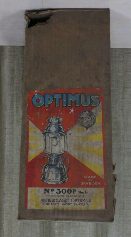 Vintage Optimus Sweden petromax light kerosene brass oil enamel germany lantern