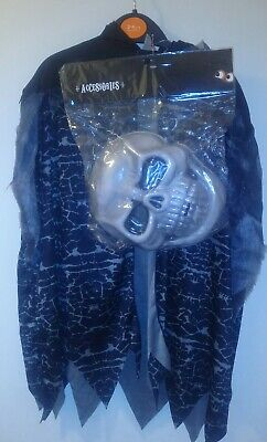 kids uk3-4 ghoulish grim reaper costume for halloween/ fancy dress party bnwt