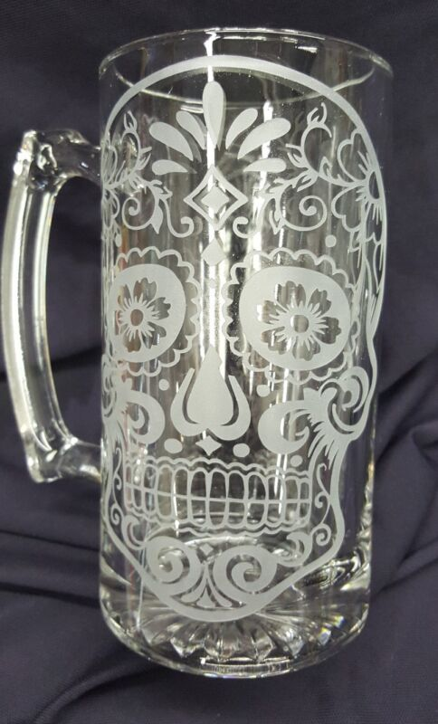 Day of the dead beer mug